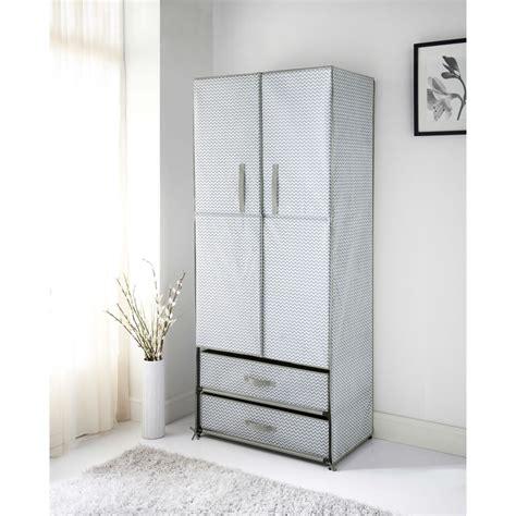 spaceways 2 door canvas wardrobe chevron furniture b m