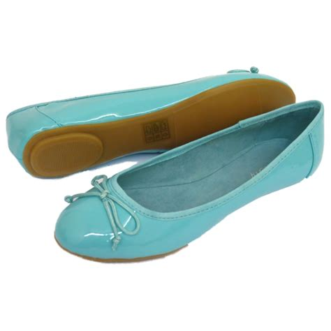 turquoise flat shoes womens turquoise dolly flat ballet patent