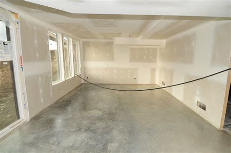 basement concrete floors naturally look amazing achieved