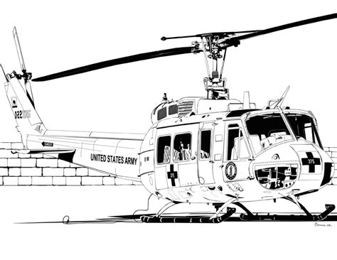 huey helicopter coloring page bell uh 1 iroquois huey by bowdenja on deviantart