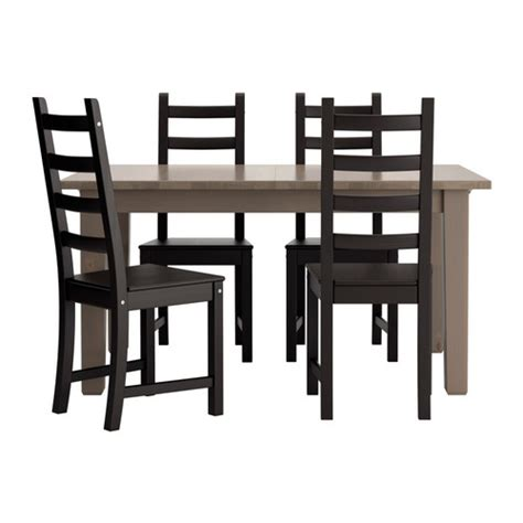 black brown table and chairs storn 196 s kaustby table and 4 chairs gray brown brown