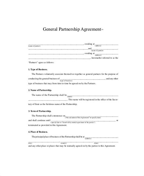 10 Sle Business Partnership Agreements In Pdf Sle Templates Sle Partnership Agreement Template Free