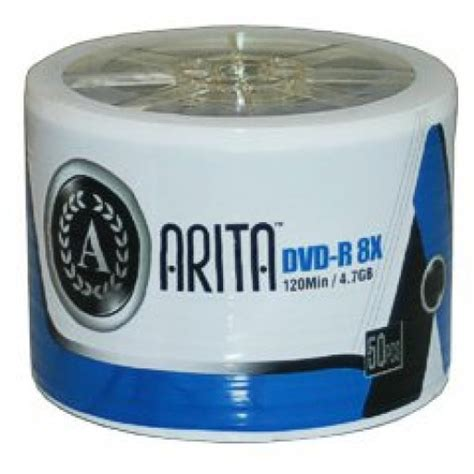 Dvd R Ritek By Toko Media disk storage arita branded 8x speed dvd r in 50 pack