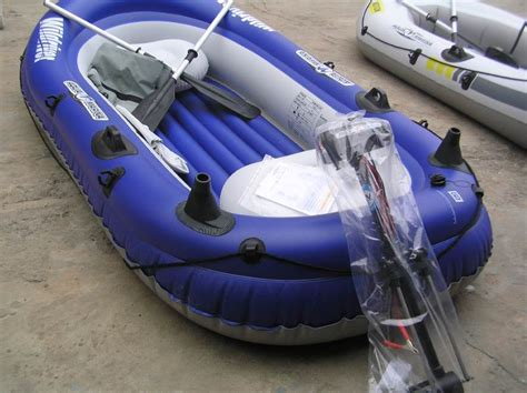 inflatable fishing boat with electric motor recreational kayaking boating equipment