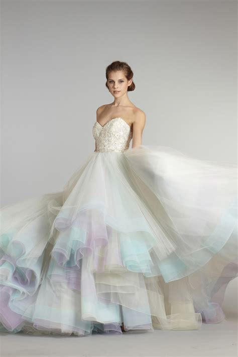 Colourful Wedding Gowns by Dressybridal 6 Unique Colored Wedding Gowns