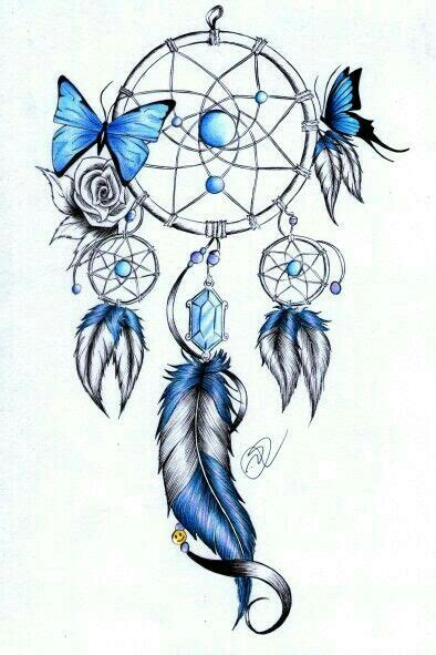 tattoo dreamcatcher butterfly atrapasue 241 os mariposa azul atrapasue 241 os pinterest