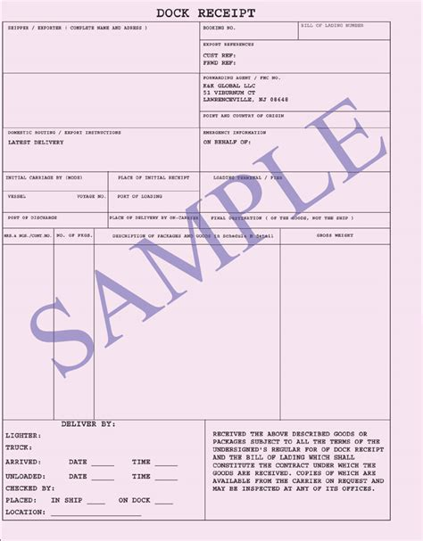 forwarders cargo receipt template 17 images of warehouse receipt template infovia net