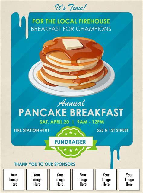 pancake stack logo flyer