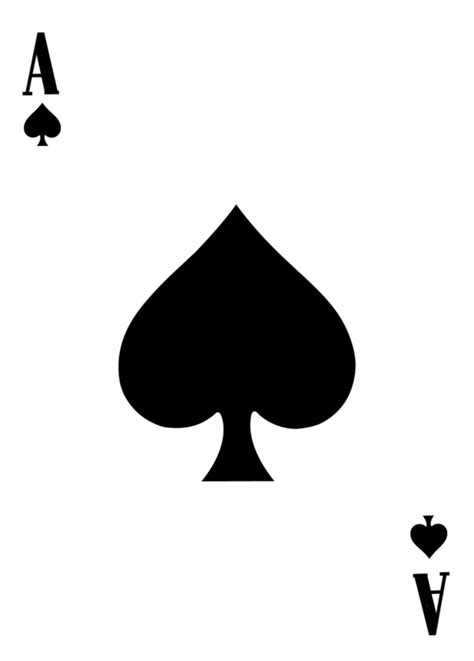 ace card template ace of spades template by leeanix on deviantart