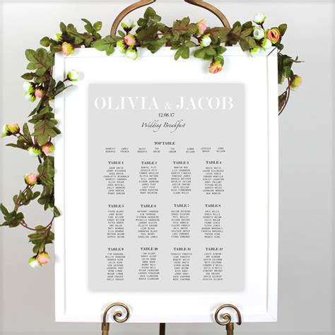 modern traditional wedding table plan  beija flor studio