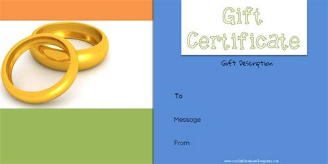template for alternative gift card free printable anniversary gift vouchers customize