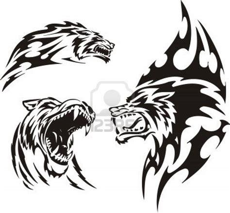 imagenes uñas tribal miss miserias tattoos lobos tribales y gato anarko