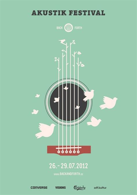 Design Poster Music | back and forth music festival by marcel bachran via