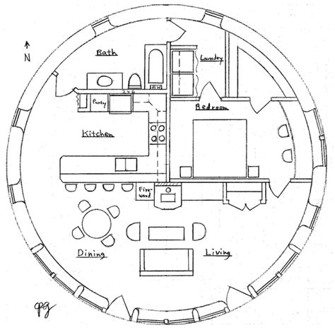 10 Meter Earthbag Roundhouse Earthbag House Plans Earthbag House Plans