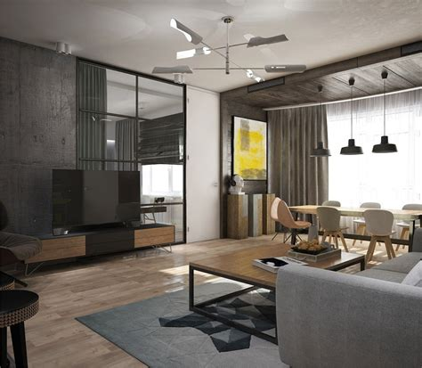 awesome  york style apartment interior design  open