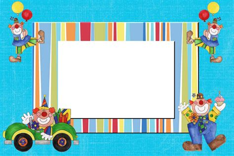 decorar fotos para cumpleaños online invitaciones de payasos para imprimir gratis imagui