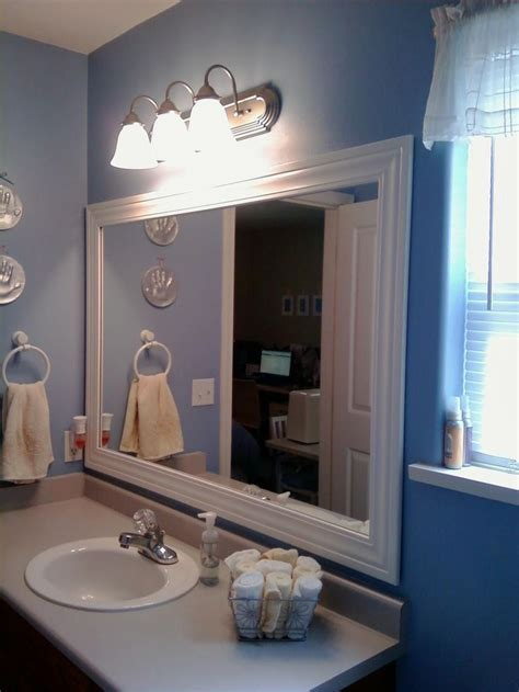 bathroom mirror trim 139 best images about bathroom makeovers on pinterest