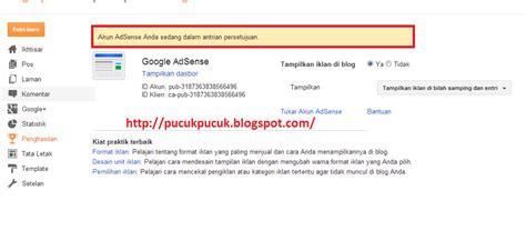adsense daftar cara daftar google adsense pucuk pucuk