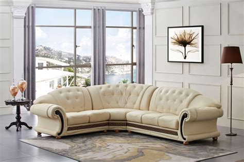 Cream Italian Leather Sofa Italian Furnitures Sofa Thesofa Versace Living Room Furniture