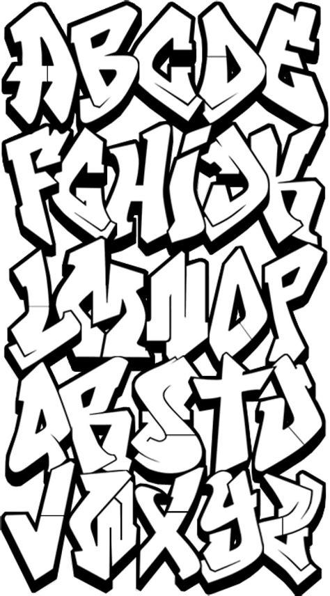 draw graffiti letters alphabet bcfbafpng