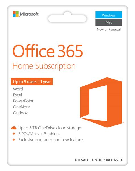 Office 365 Gift Card - office 365 home premium 2016 microsoft the co op