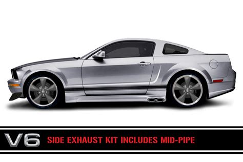 mustang exhausts 2005 ford mustang side exhaust