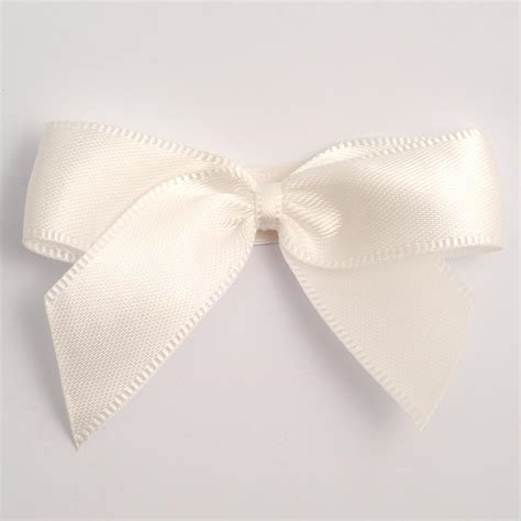 Ivory Self Adhesive Satin Ribbon Satin Bows, Favour This