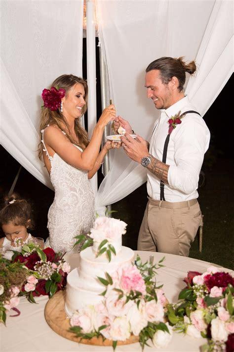 Audrina Patridge's Hawaiian Teal and Red Wedding