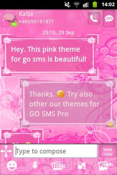 go sms pro pink sweet theme apk pink flowers theme go sms pro android apps on play