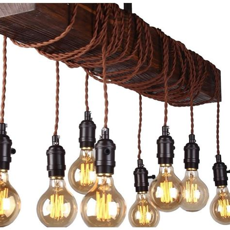 8 Light Wood Beam Chandelier   Chandelier   Whoselamp