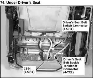 honda crv seat belt alarm light on the dash stays on