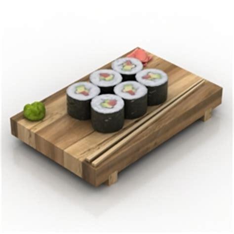 japan furniture japanese 3d model quot sishi quot collection 3d models sushi 1 3d model