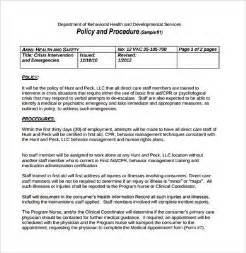 Records Management Policy Template by Policies And Procedures Template Best Business Template