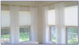l shaped curtain rod for corner window curtain home