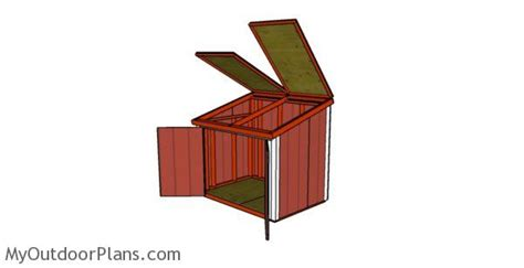 Backyard Playhouse Large Generator Shed Roof Plans Myoutdoorplans Free