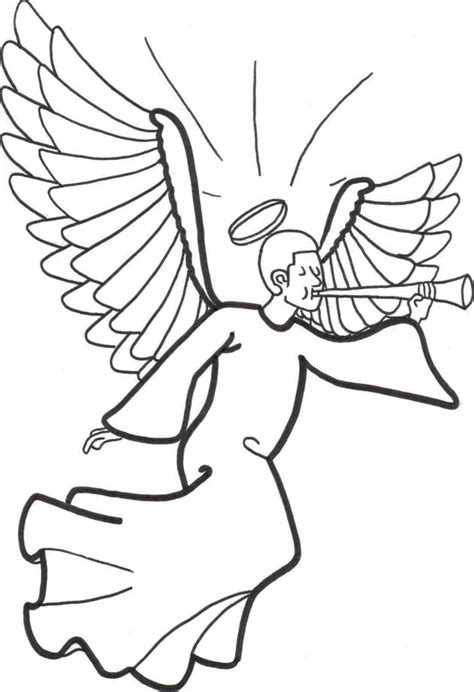 preschool coloring pages angels free printable angel coloring pages for kids