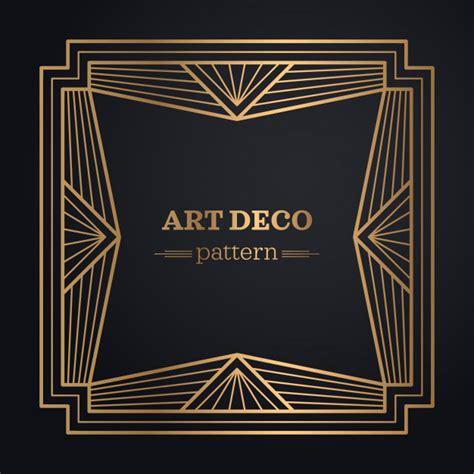 printable art deco art deco frame background vector free download