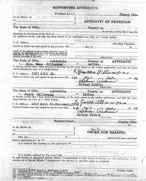 Ohio Birth Records 1800s Sle Birth Certificatea Record Certificate Birthers Hoax Keny