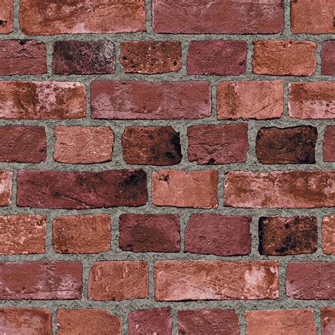 home depot decorative bricks the wallpaper company 8 in x 10 in red brick wallpaper