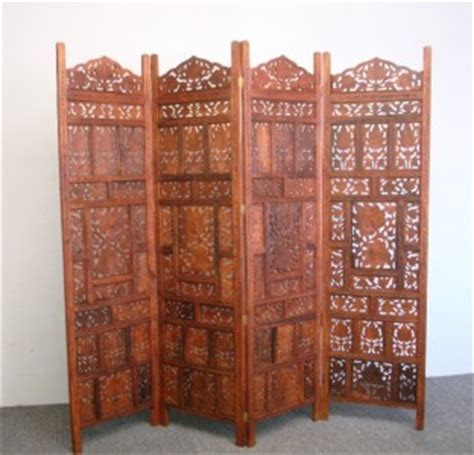 Room Dividers India 4 Panel Indian Carved Wooden Screen Room Divider Ebay