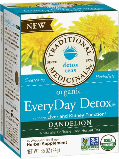 Dandelion Detox For Liver by Everyday Detox 174 Dandelion Traditional Medicinals