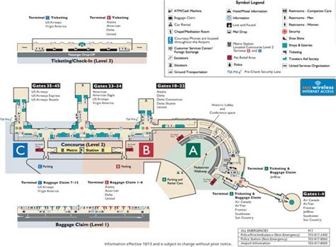 washington dc terminal map dca terminal map d c trip