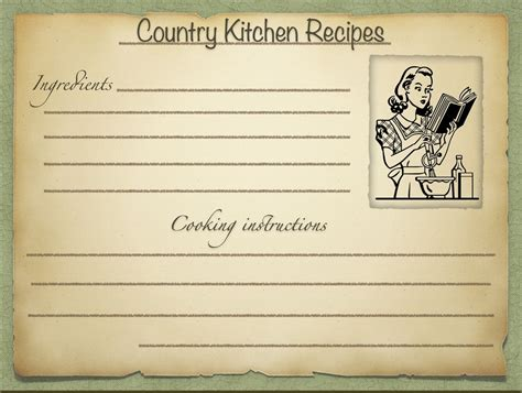 Retro Recipe Cards Vintage Template Free Word by Freebies