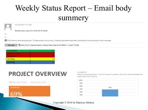 status email template status report email template images