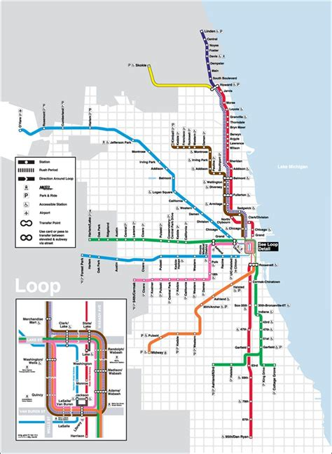 cta loop map the cta system is an transportation system in