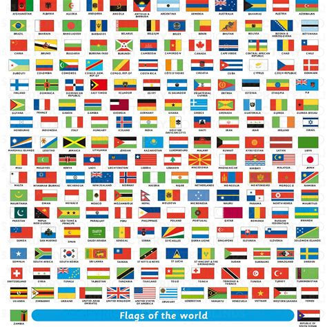 flags of the world design printed blinds factory geography classroom