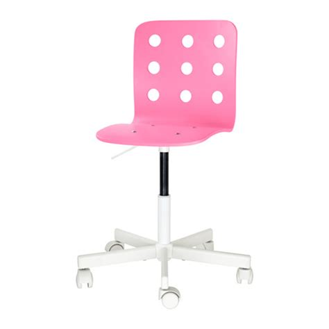 jules junior desk chair pink white ikea