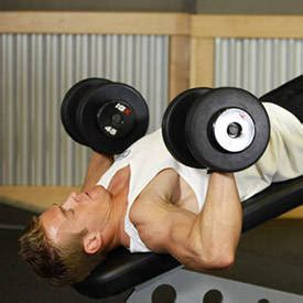 dumbbell bench press alternative wide grip decline barbell bench press exercise guide and video