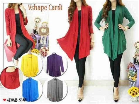 V Neck Jumbo Fit To Xl Kaos Besar Basic Murah blazer wanita murah v 253