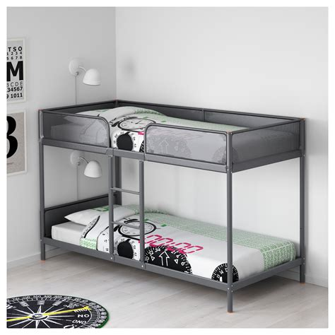 bunk bed frame ikea tuffing bunk bed frame grey 90x200 cm ikea